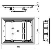 KOPOBOX 57_LB Рамка підлогової коробки