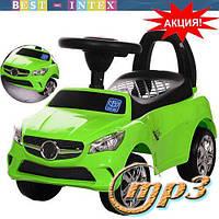 Каталка-толокар M 3147C(MP3)-5 Mercedes Зелёный+ фары-СВЕТ+музыка!!!