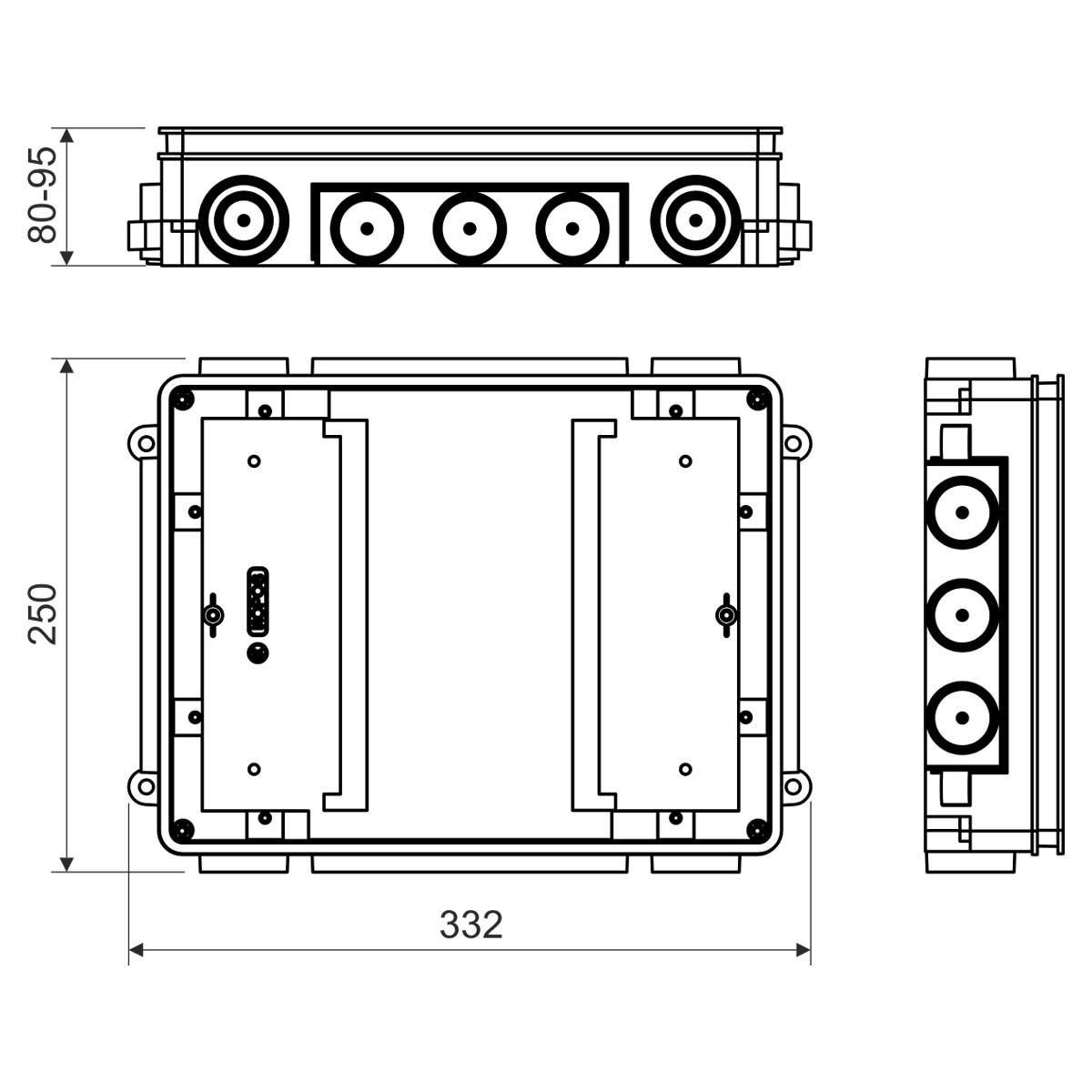 KUP 80_FB Універсальна коробка для підлоги