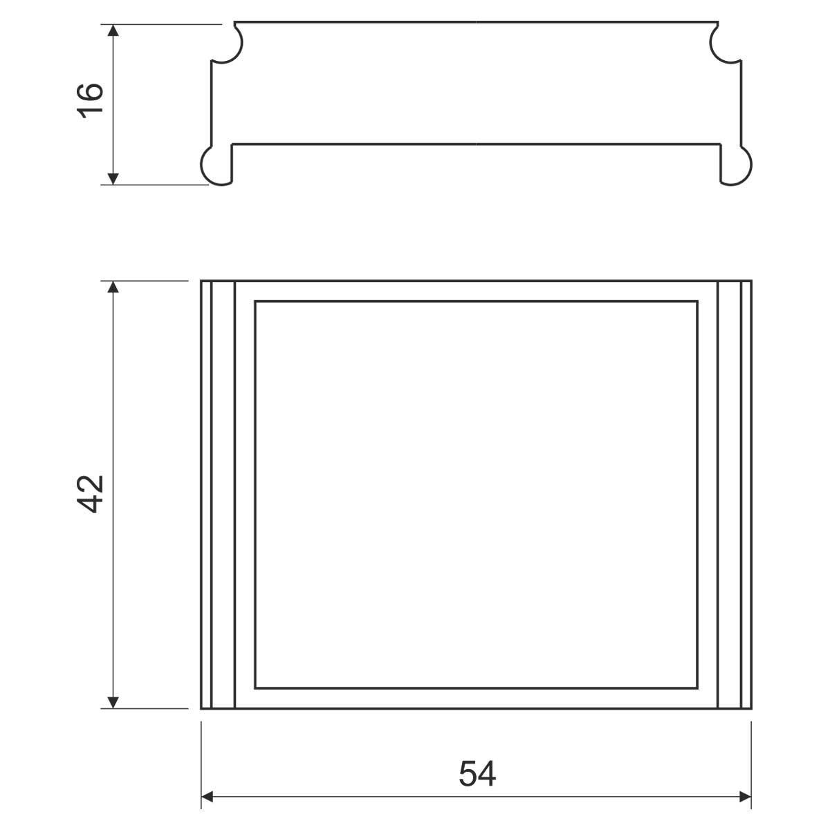 Дистанційна розпірка до коробки KP 67х67; розміри 54х42х16мм; ПВХ