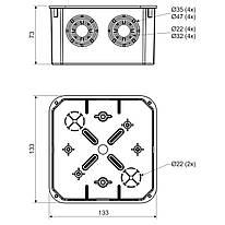 KO 125_KA Коробка з кришкою KO 125 V