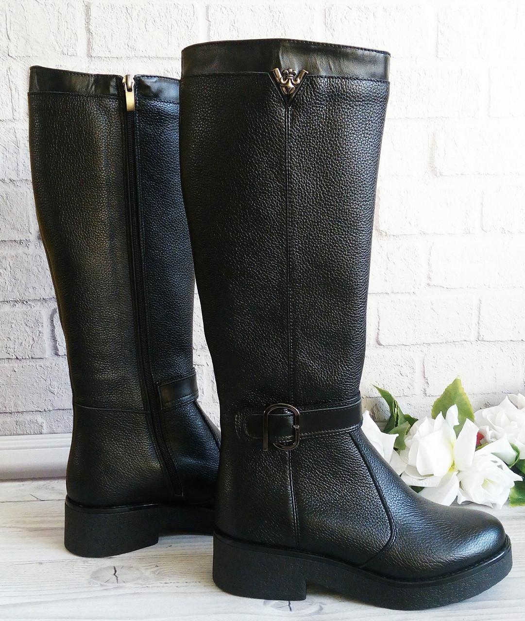 Высокие женские сапоги на платформе фабричная обувь