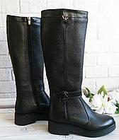 Высокие женские сапоги на платформе фабричная обувь, фото 1