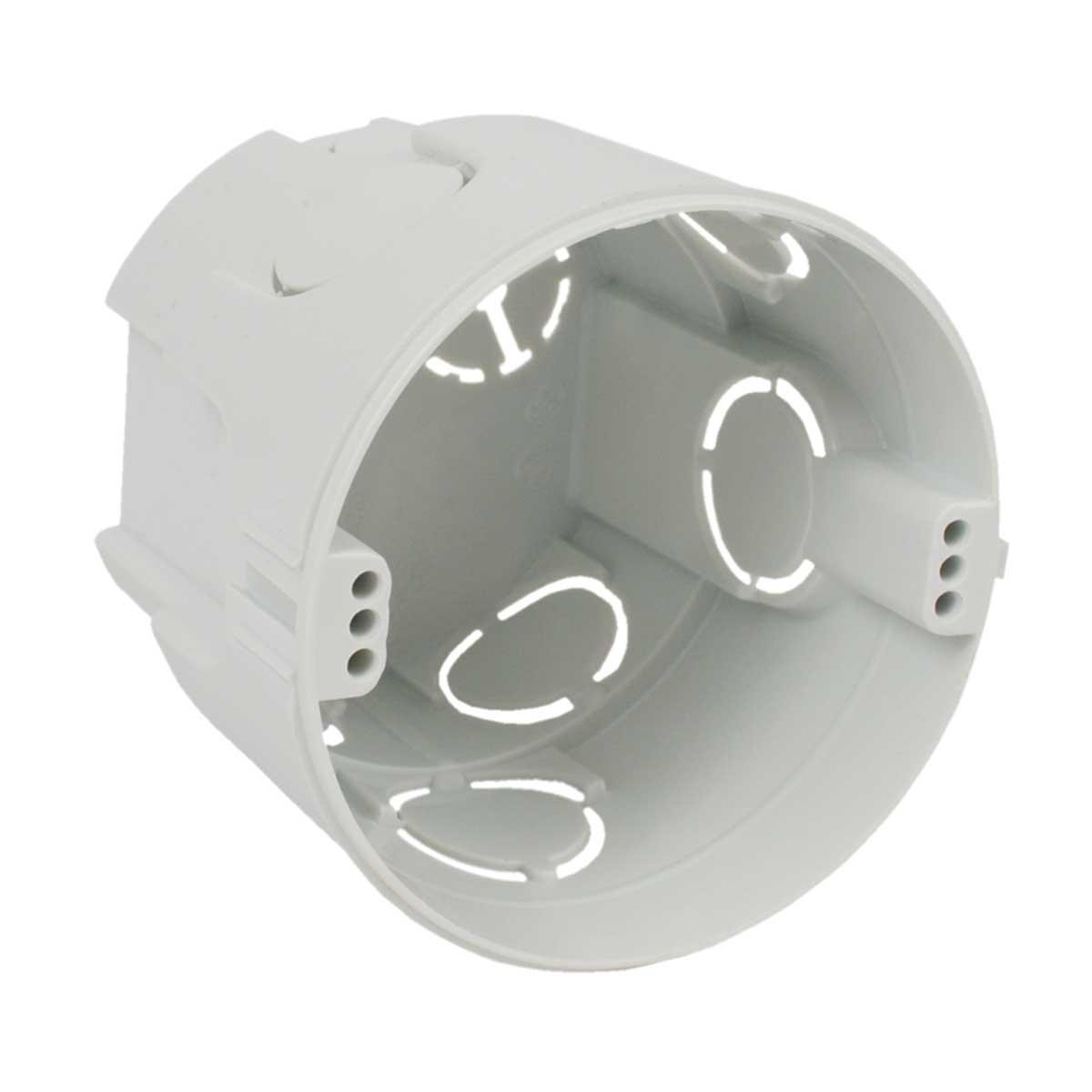Коробка приладова,  з'єднуються між собою; ПВХ; сіра; Ø73х66мм