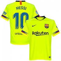 Новинка Футбольная форма Барселона Месси (fc Barcelona Messi) 2018-2019  выездная салатовая 1147e895211