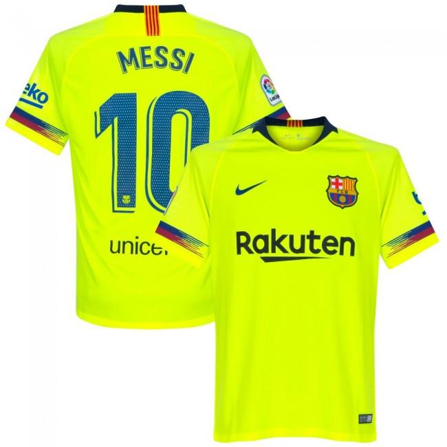 Футбольная форма Барселона Месси (fc Barcelona Messi) 2018-2019 выездная  салатовая -