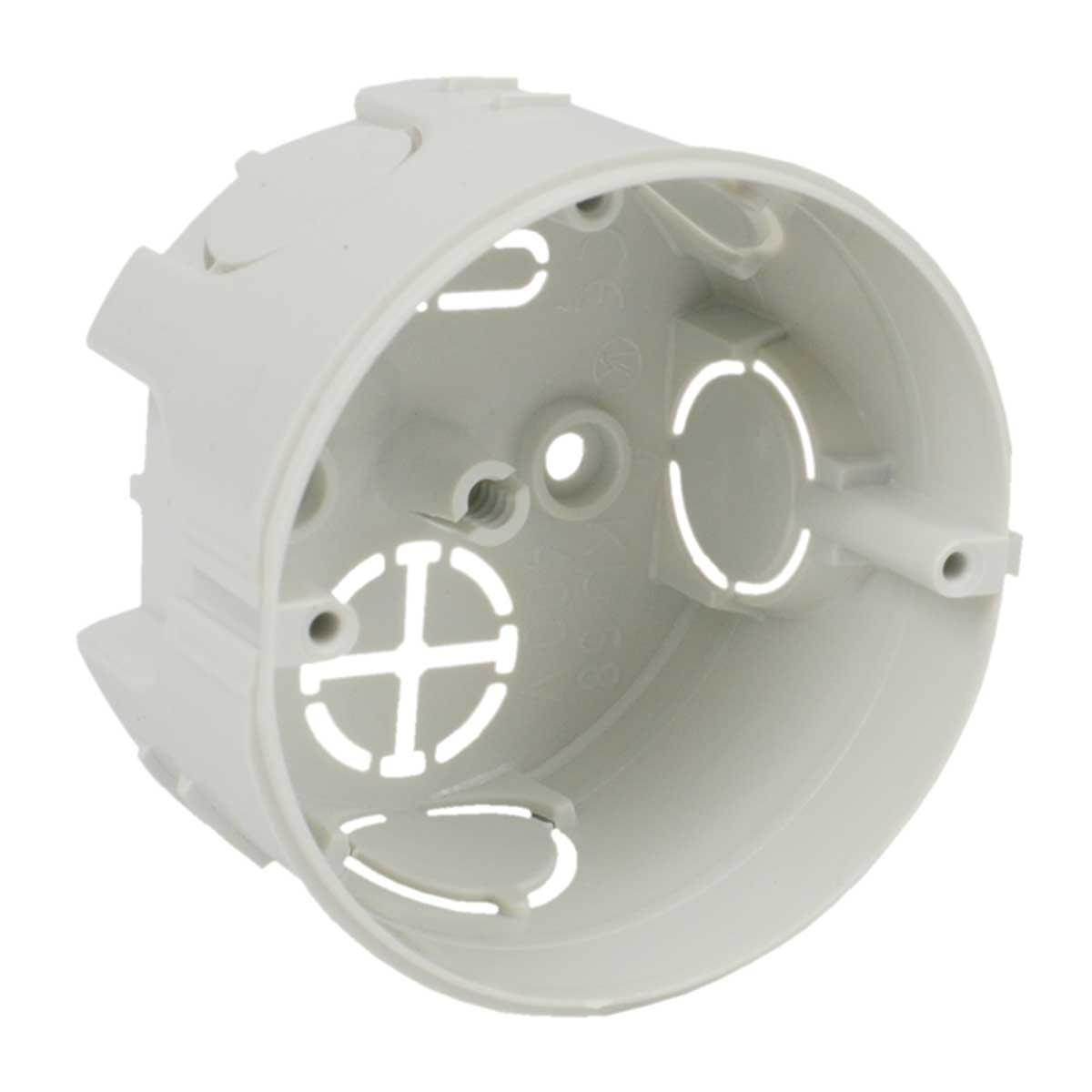 Коробка приладова універсальна; з'єднуються між собою; ПВХ; сіра; Ø73,5х43мм