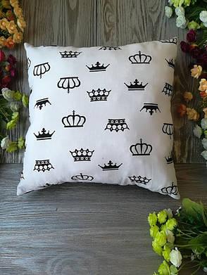 Подушка черно-белое королевство квадратная,  35 см * 35 см, фото 2