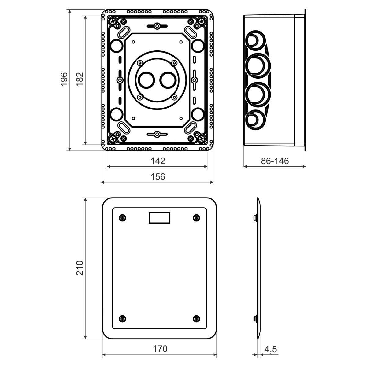 KUZ-V_KB Коробка універсальна з кришкою (використовується при термоізоляції будинків)