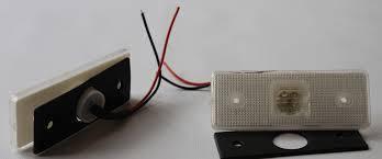 Фонарь боковой (габарит) MB Sprinter/VW LT 96-06 (белый) LED (0028206456)  ROTWEISS