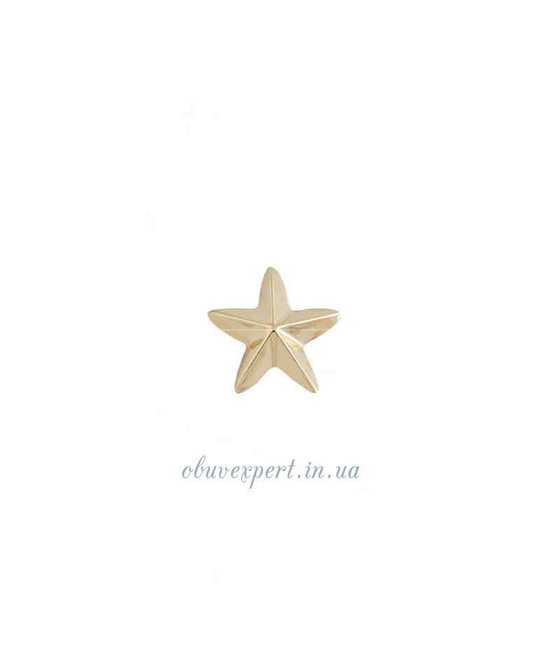 Декор мелкий Звезда 14*14 мм Красное золото