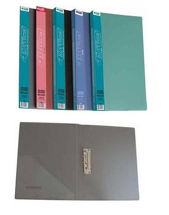 Папка з притисками 4Office, А4, PP, чорна, фото 2