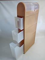 Комод (шкаф) пластиковый для ванной комнаты 450Х156Х1005 мм Консенсус OST-005