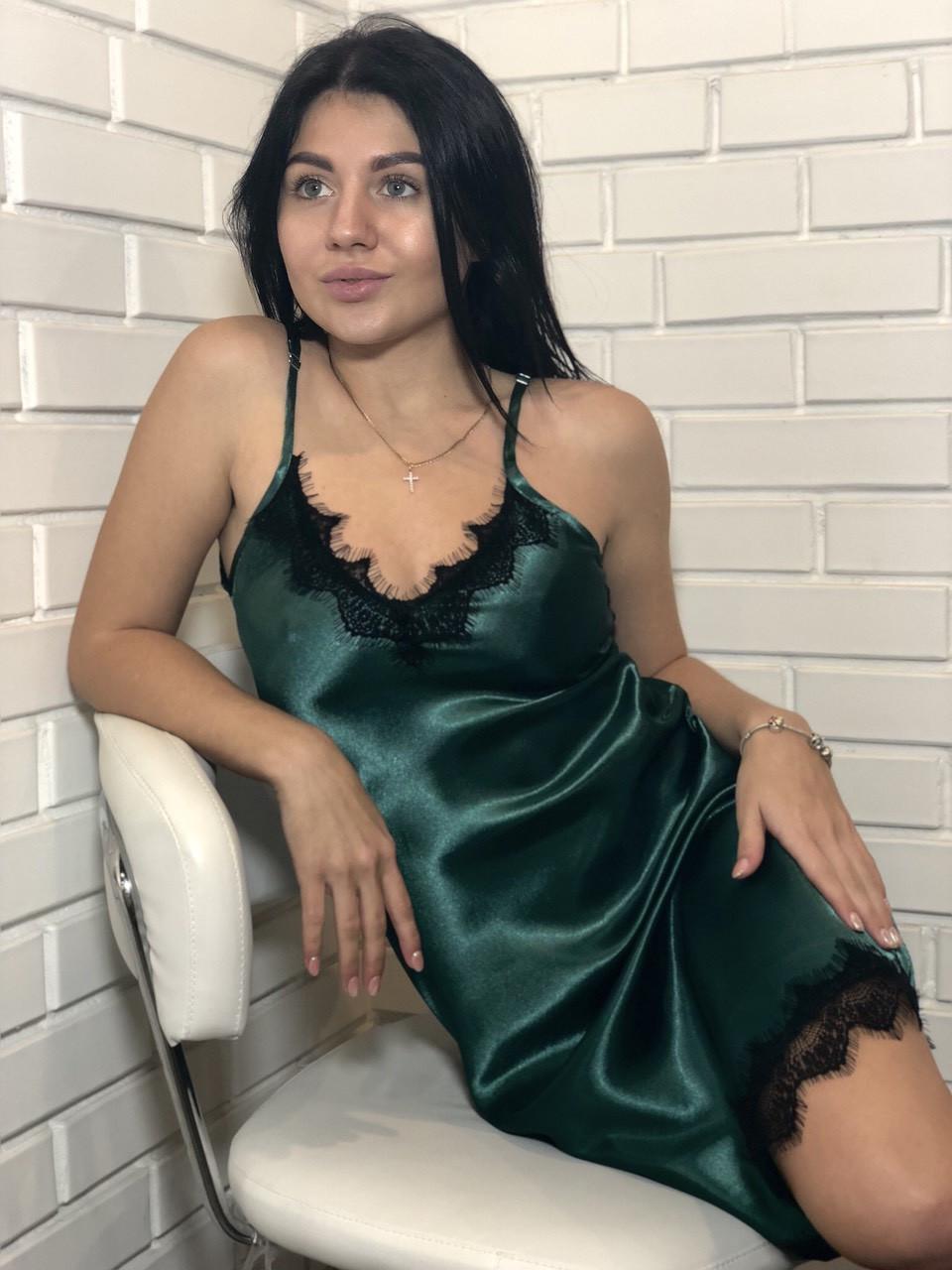 ТМ Exclusive, Женская домашняя одежда, атласный пеньюар
