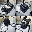 Рюкзак жіночий трансформер Mickey Mouse з вушками Чорний, фото 6
