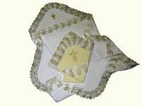 Крыжма для крещения двойная Трикотажная (кулир) 75*80 см. Белый