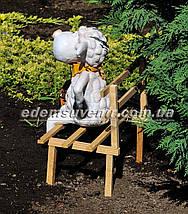 Садовая фигура Овечка на скамейке с фонарем, фото 3