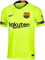 Футбольная форма Барселона (fc Barcelona) 2018-2019 выездная салатовая, фото 1