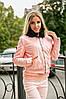 Женская стеганная куртка из эко кожи в расцветках. ПН-14-1018, фото 3