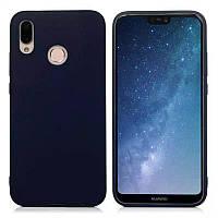 Чехол Candy Silicone для Huawei Honor Play цвет Синий