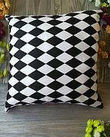 Подушка черно-белый арлекин,  35 см * 35 см
