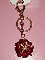 Брелок для сумки, красный цветок 006115