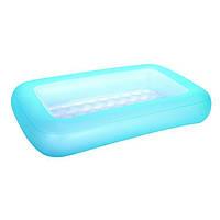 Детский надувной бассейн BestWay 51115, голубой, 165 х 104 х 25 см Надувное дно, фото 1
