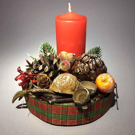Новогодний подсвечник со свечой, фото 2