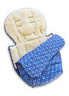 Конверт, чехол зимний синий со снежинками, фото 1