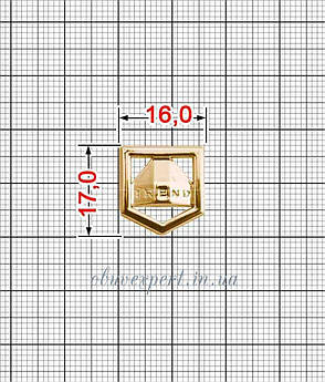 """Декоративна табличка """"TREND"""" 17 * 16 мм Червоне золото, фото 2"""