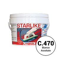 Litokol STARLIKE С.470 2,5 кг - эпоксидная затирка - С.470 экстра белый (мелкая фракция шов от 1 мм)