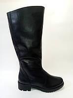Женские кожаные зимние сапоги на широкое голенище ТМ Камея, фото 1