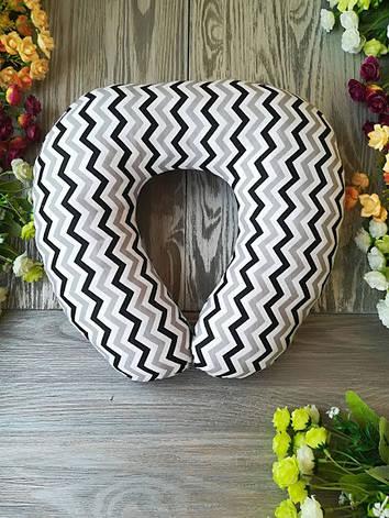 Автомобильная подушка зигзаг черно-серый , 41 см * 34 см , фото 2
