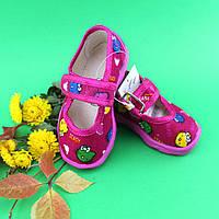 Тапочки в садик на девочку, текстильная обувь Vitaliya Виталия Украина, размеры р.19, фото 1