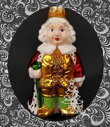 Стеклянная елочная игрушка Король , фото 2