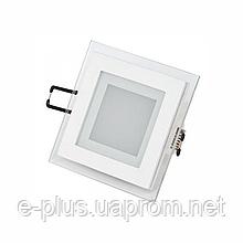 Светильник потолочный Feron AL2111 6Вт белый со стеклянным обрамлением