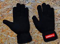 Перчатки черные мужские теплые из поларфлиса Adidas Originals Fleece Gloves Адидас Ориджиналс