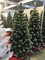 Ялинка новорічна європейська сніжна 2,1м елка искусственная ель