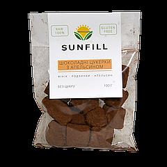 Конфеты-ириски SUN FILL Шоколадно-апельсиновые, 100г