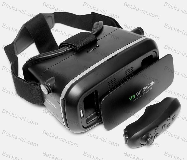 VR SHINECON виртуальные очки 3D для смартфона