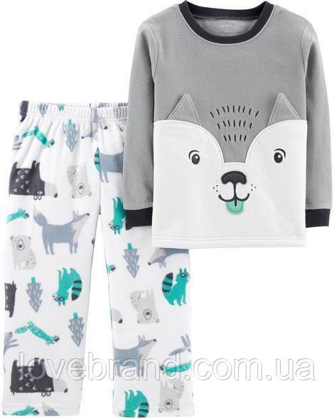 """Флисовая пижамка для мальчика Carter's """"Волчёнок"""" 5Т/105-111 см"""