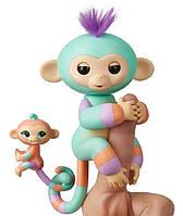 Интерактивная гламурная обезьянка Денни с мини-обезьянкой Fingerlings W3540/3544