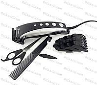 Машинка для стрижки волос, 4 насадки, ножницы, расческа, фото 1