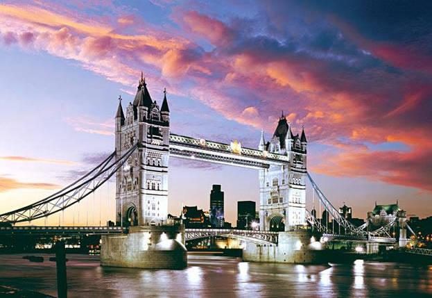 Пазлы Мост Тауэр, Лондон 1000 элементов, фото 2