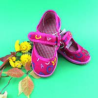 Детские тапочки на липучке оптом текстильная обувь Vitaliya Виталия Украина, размеры 28-29, фото 1