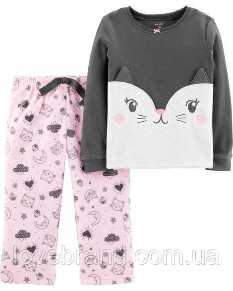 """Флисовая пижамка для девочки Carter's  """"Кошечка"""" 5Т/105-111 см"""