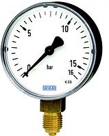 Манометр WIKA 111.10.100 0...10 бар., G1/2B, радіально, кл.т.1,6 сталь, +150 С.