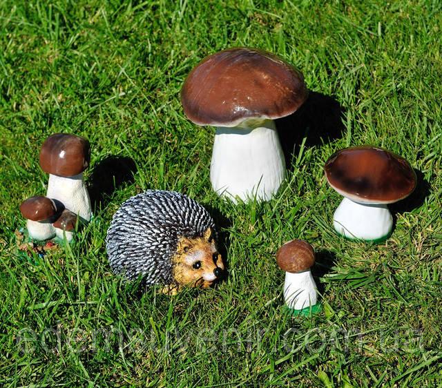 Купить садовые фигурки грибов