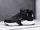 Мужские зимние кроссовки Nike Huarache Acronym Black высокие Найк Аир Хуарачи Акроним в стиле черные, фото 3