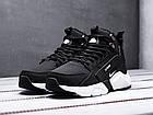 Мужские зимние кроссовки Nike Huarache Acronym Black высокие Найк Аир Хуарачи Акроним в стиле черные, фото 4